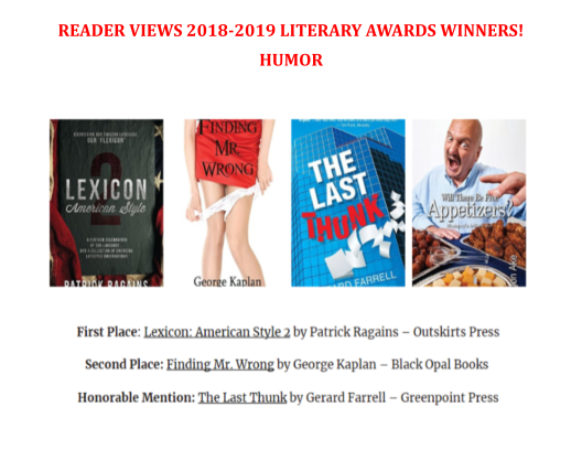 2019 Reader Views Humor awards 150dpi